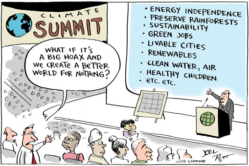 Cartoon by Joel Pett from USA Today, December 2009